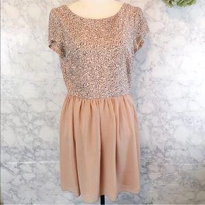 Speechless Blush Pink Leopard Print Dress 13